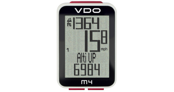 VDO M4 WR cykelcomputer sort